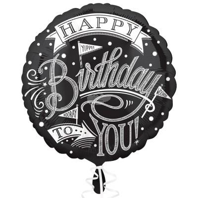 "Folienballon ""Chalkboard Happy Birthday"" 